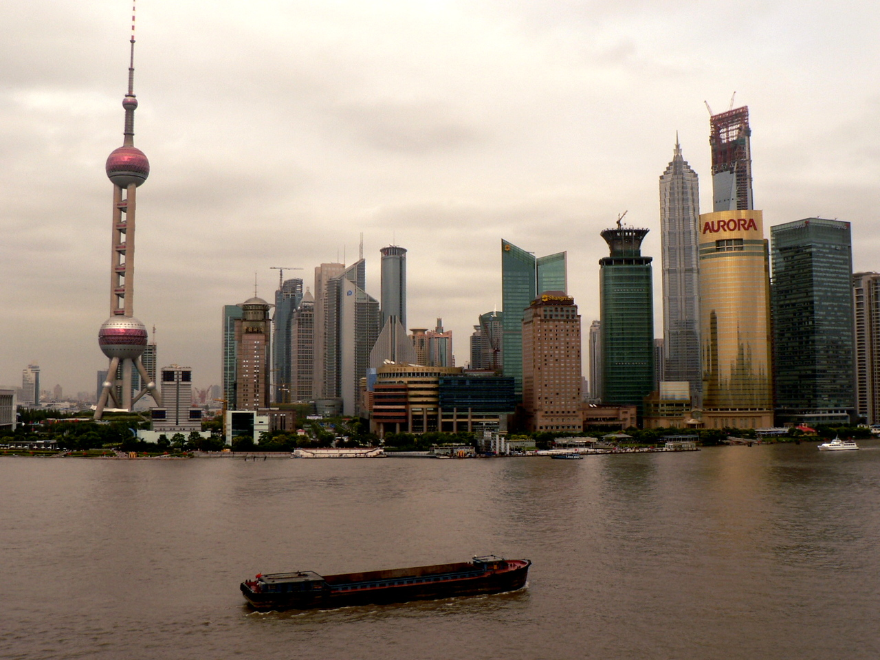 "On ""the Bund..."" <br /> <br />  The Huangpu River."