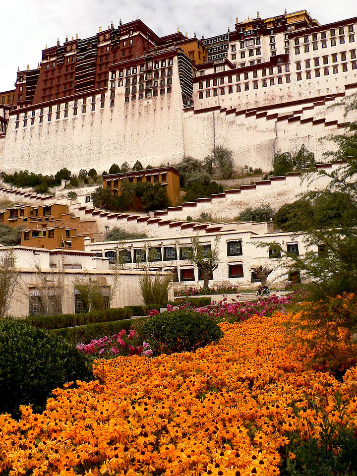 The Potala Palace was only slightly damaged during the Tibetan uprising against the invading Chinese in 1959. Unlike most other Tibetan religious structures, it was not sacked by the Red Guards during the 1960s and 1970s, apparently through the personal intervention of Chou En Lai. As a result, all the chapels and their artifacts are very well preserved.
