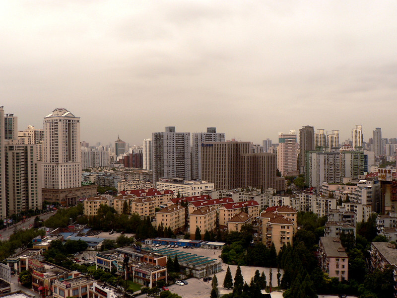 The view from Kari's apartment at Grand Gateway