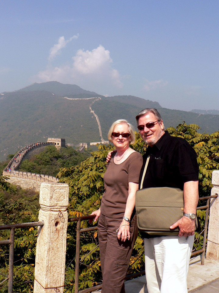 Two great wall admirerers
