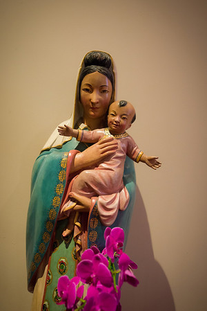 You just don't find Chinese Madonna and Child everywhere.