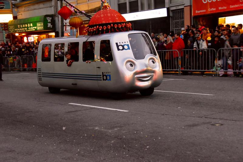 Cute BART train