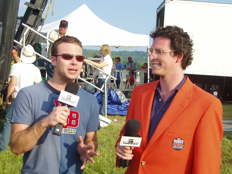 Vice President, CMT Dukes of Hazzard Institute Christopher Nelson interviewed by CMT Top Twenty Host Lance Smith at CMT DukesFest 2005 on Saturday, June 4, 2005 at the Bristol Motor Speedway and Dragway. Nelson's first official act as VP was presenting the Special Olympics of Arkansas with a $10,000 check from the CMT Dukes of Hazzard Institute. The Dukes of Hazzard airs 7 amd 11 pm ET/PT weeknights on CMT: Country Music Television. Photographer: Dan Smigrod