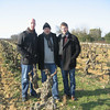 Christopher on far right in a French Vineyard 2011