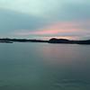 Sunset in Rupert Dec  16 as ferry departs
