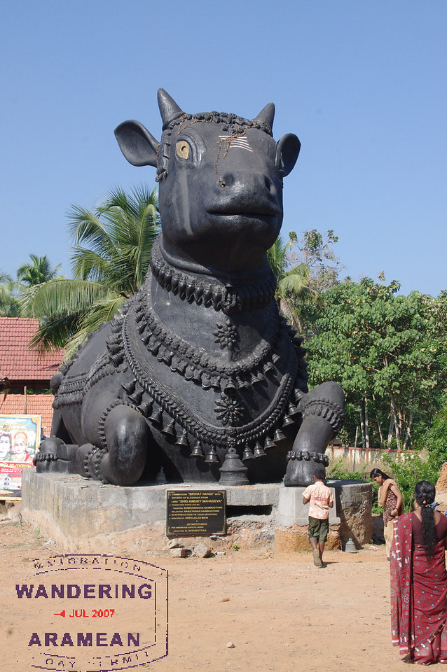 One of the huge statues along the roadside