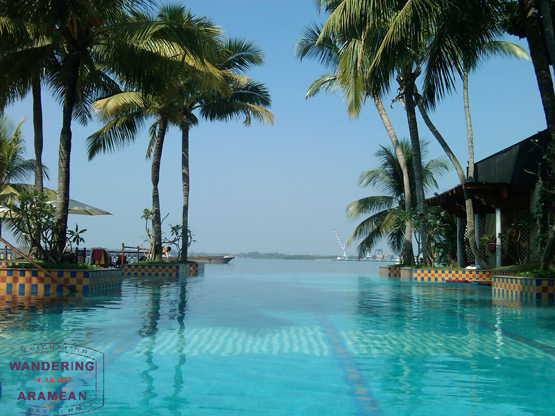 The pool area at the Vivanta in Kochi; not so bad