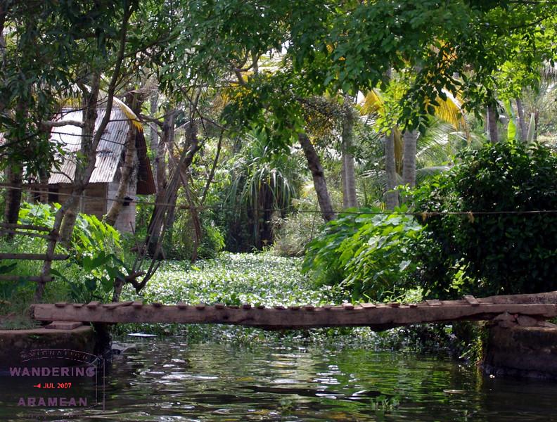 VERY narrow backwater areas