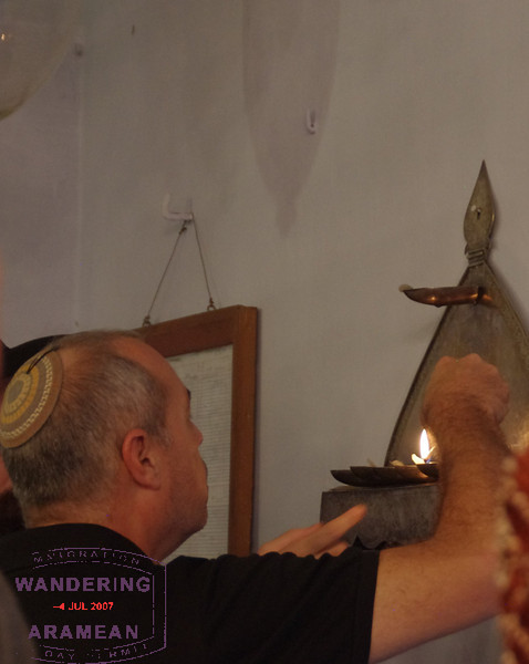 Lighting the Chanukkah menorah