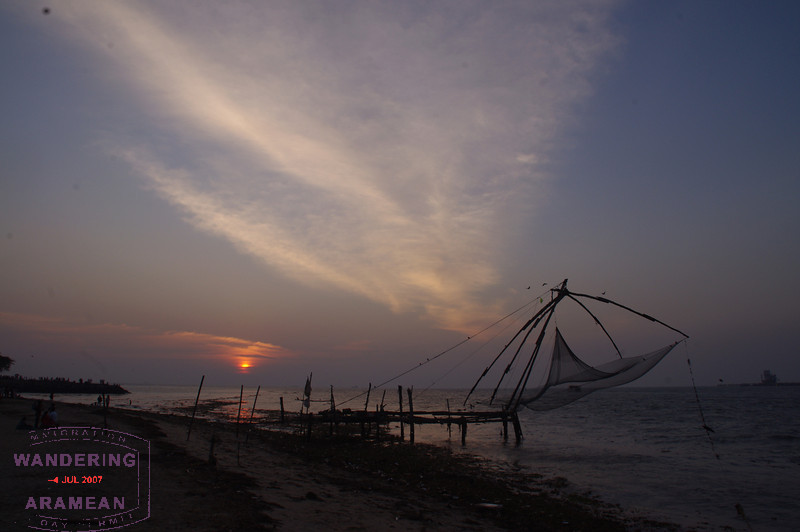 More sunset over the Chinese fishing nets