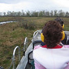 Tearing through the swampy marsh in an airboat.  TURN THE VOLUME DOWN!  This is a loud recording!