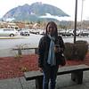 Shopping at Mike's parents favorite place -- North Bend outlets. Great view of Mount Si -- one of the hikes we did when we lived in Seattle.