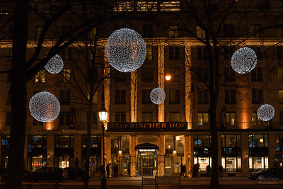 Christmas lights at Promenadenplatz, Munich