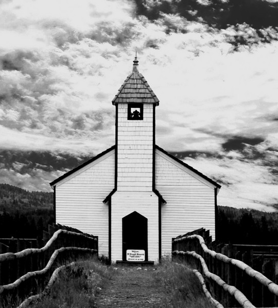 Morley Alberta church