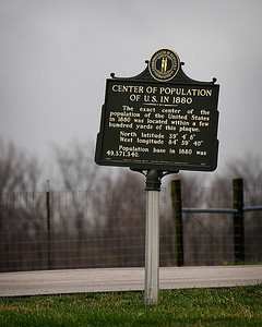 "03/15/12 ""Center of Population"" landmark at the CVG Airport Viewing area in Cincinnati, Ohio."