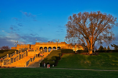 03/15/12 Ault Park in Cincinnati, Ohio at Sunset