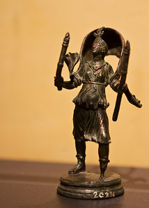 "Small bronze statue.  One of over 250 artifacts from the exhibit ""A Day in Pompeii"" at the Cincinnati Museum Center in Ohio"