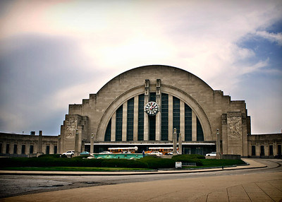 03/15/12 Union Terminal which houses the Cincinnati Museum Center in Cincinnati, Ohio.  Union Terminal was built in 1933 and is a great example of art deco and is a National Historic Landmark. Amtrak operates at Union Terminal.  For more info, go to http://www.cincymuseum.org/unionterminal
