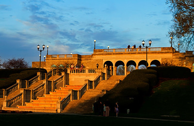 03/15/12 Ault Park in Cincinnati, Ohio at Sunset.