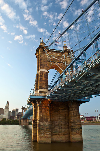 John A. Roebling suspension bridge.