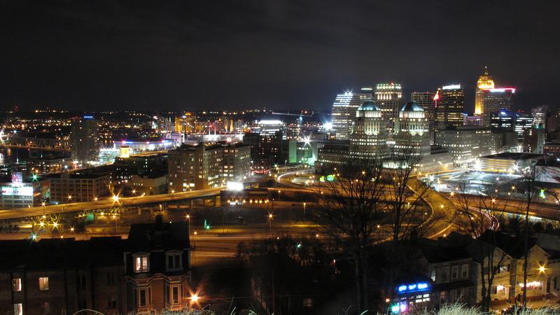 Downtown Cincinnati from Mt Adams.