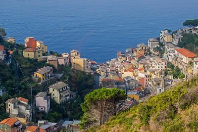 Looking down towards village of Riomaggiore