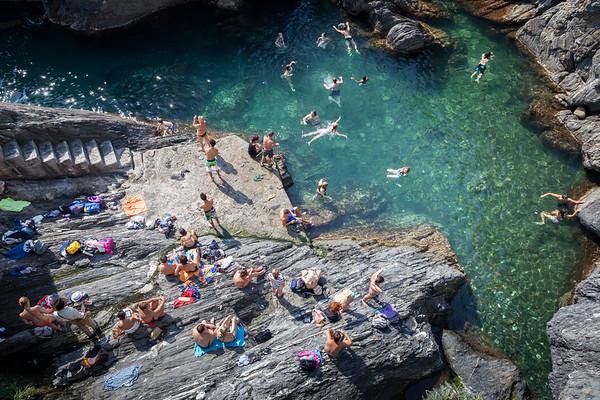 Rocky bay in Manarola, Cinque Terre, Italy, 2012