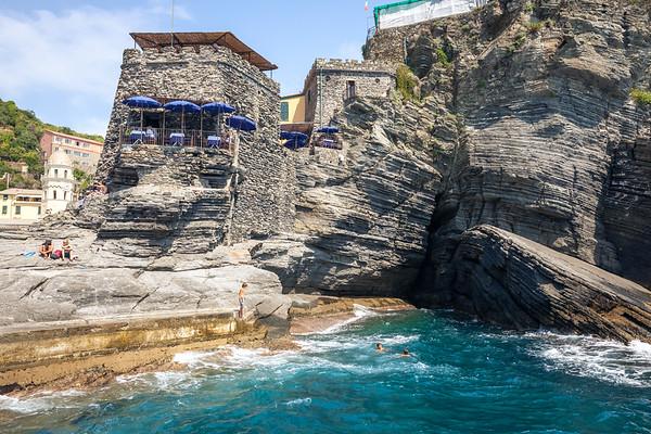 Harbor pier in Vernazza, Cinque Terre, Italy