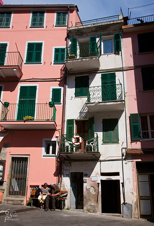 Pink and White Buildings