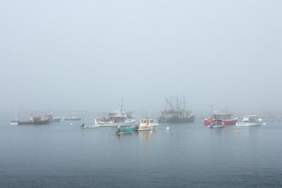 Rye Harbor Fishing Fleet in the Fog