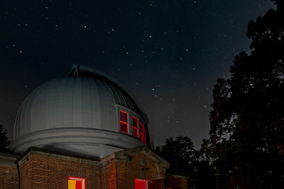 Wilder Observatory Dome and Stars
