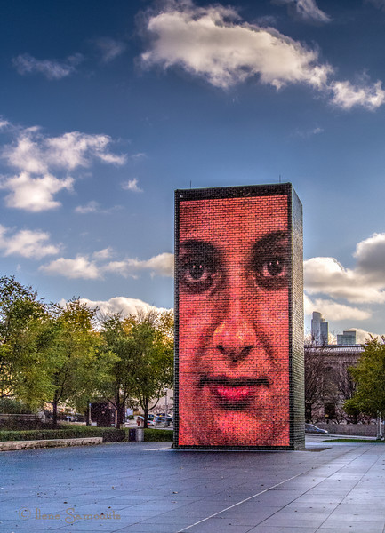 """11-26-13 Another Chicago landmark - Crown Fountain, an interactive piece of art. Info can be found at <a href=""""http://en.wikipedia.org/wiki/Crown_Fountain"""">http://en.wikipedia.org/wiki/Crown_Fountain</a><br /> <br /> Thanks for making the stadium shot number one for the day."""