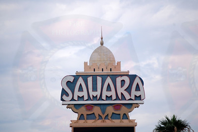 One of the last photos of the Sahara Hotel - has been demolished.
