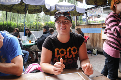 Lunch immediately after Dan, Jessie and Barb arrived at Uncle Uli's pub. Hands-down the worst service we've had in a whole long while -- right on par with the terrible service in the Netherlands. Boo 18% mandatory gratuity.