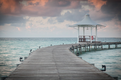 Pier along the water