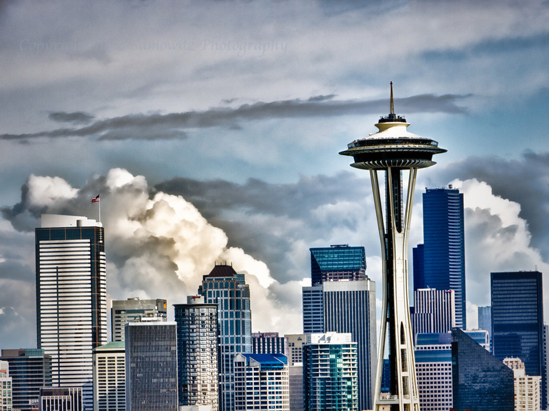 Close Up of Seattle Skyline
