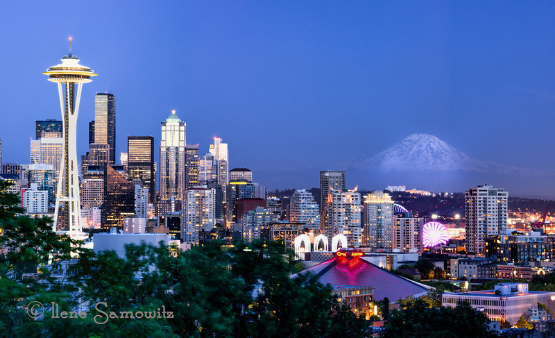 6-30-13 Seattle twilight. I took advantage of the warm evening last night and did some night shooting.