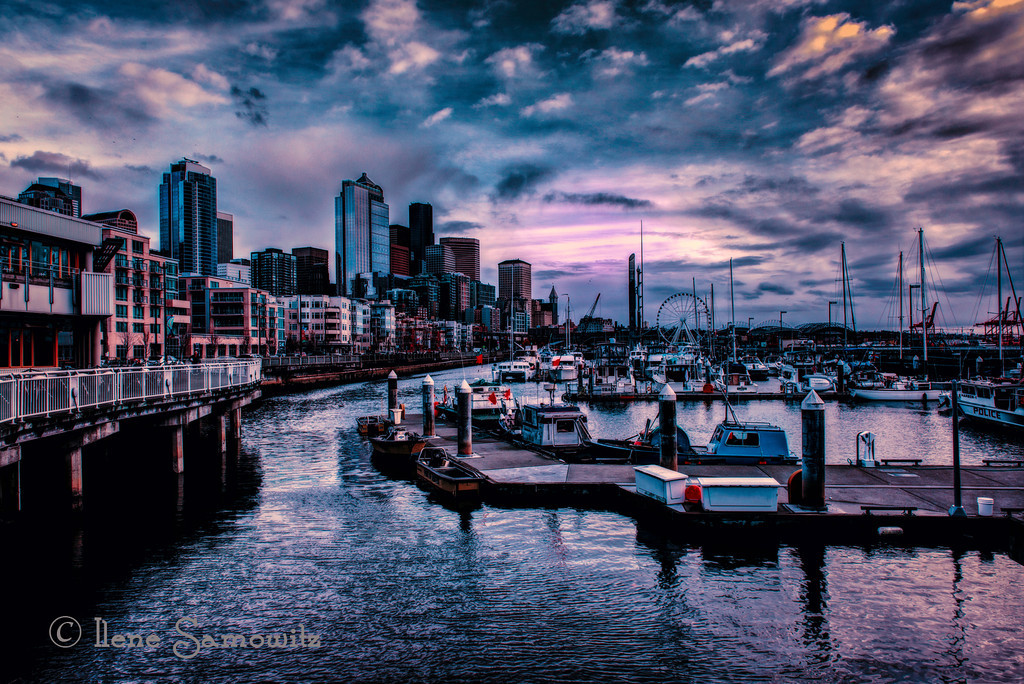 12-25-12.  Seattle Waterfront from Pier 66 <br /> <br /> <br /> Critiques Welcome.