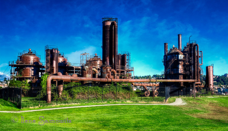 "9-7-13 ""I for Industrial""  I took this image at Gasworks Park, Seattle.  I could not think of a more industrial type of shot anywhere and am thinking this will be a unique offering for the alphabet challenge.  I am really enjoying this challenge and have started a gallery under PAD where I am collecting all of my alphabet shots."