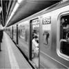 Subway at Astor Place, New York City. May, 1987.