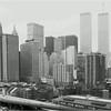 Lower Manhattan from Brooklyn Bridge. May, 1987.