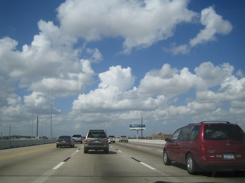 Strangely, I encountered no traffic at all leaving Houston. Just clear roads and skies ahead!