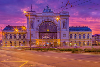 The Budapest Keleti railway station