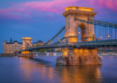 The Chain Bridge at Sunset