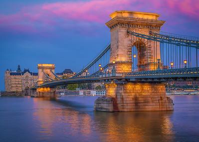 The Chain Bridge at Sunset