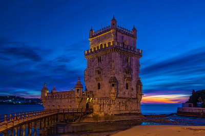 The Belem Tower Blue Hour Canon Aurora HDR