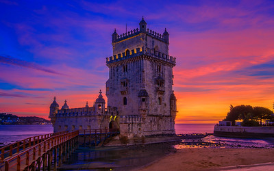 The Belém Tower at Sunset