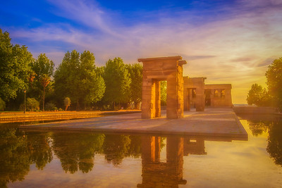 The Temple of Debod Skylight (Luminosity Masks)