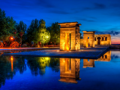 The Templo De Debod (Blue Hour)