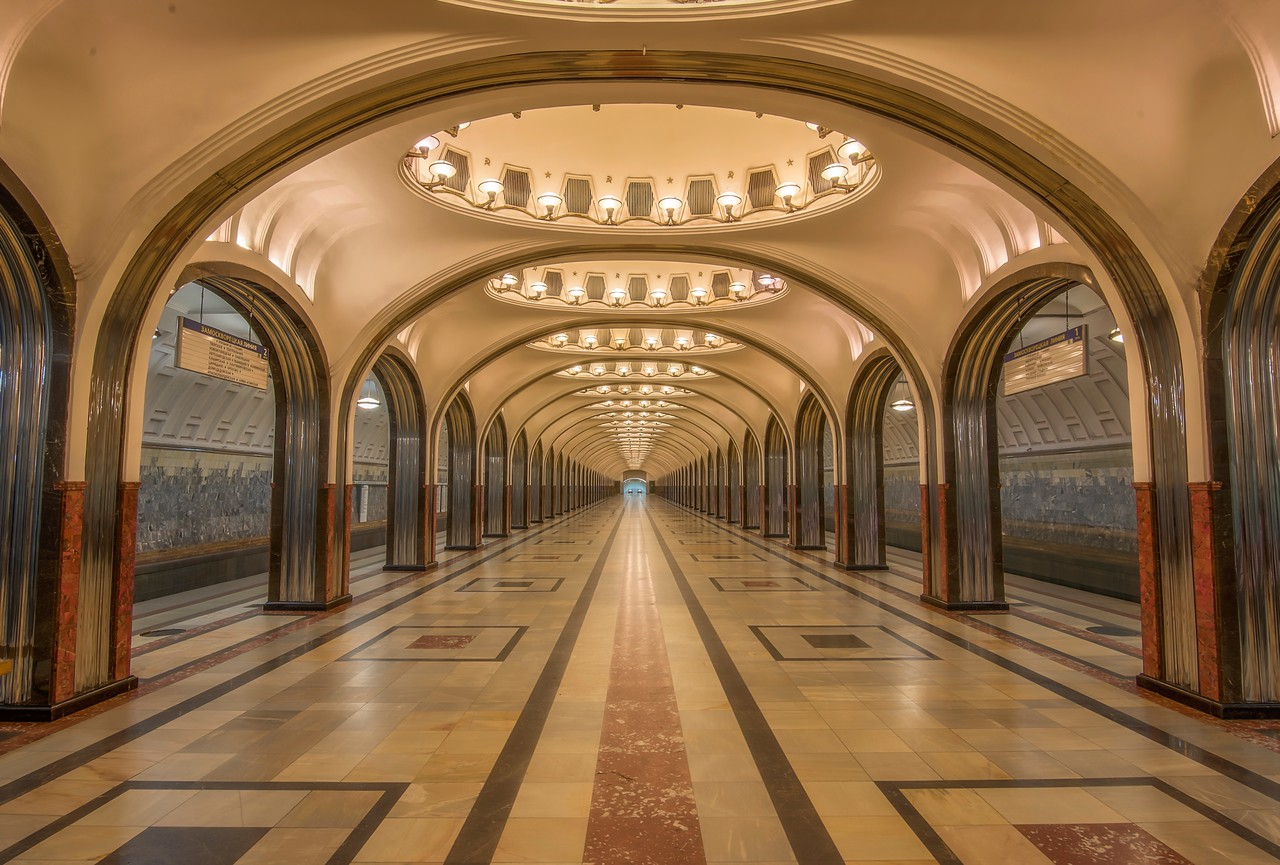 Mayakovskaya Metro Station (Luminosity Masks)